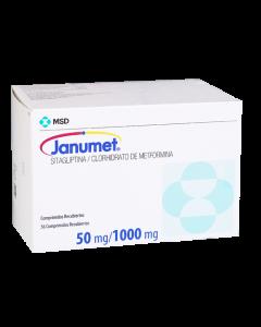 JANUMET COMPRIMIDOS 50 MG / 1000 MG