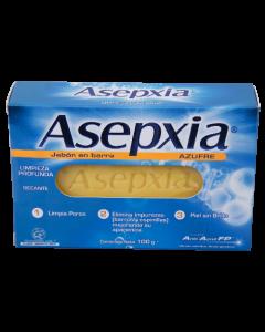 ASEPXIA AZUFRE LIMPIEZA PROFUNTA JABON 100 G