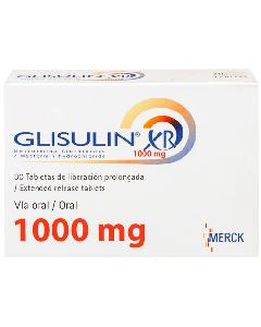 GLISULIN XR TABLETAS 1000 MG