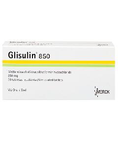 GLISULIN TABLETAS 850 MG