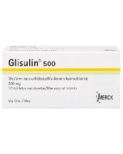GLISULIN TABLETAS 500 MG