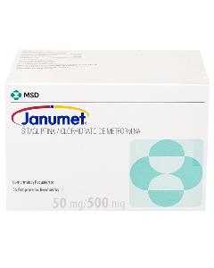 JANUMET COMPRIMIDOS 50 MG / 500 MG