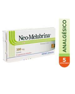 NEO MELUBRINA SUPOSITORIOS 300 MG